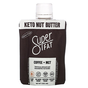 SuperFat, Keto Nut Butter, Coffee + MCT, 1.5 oz (42 g)