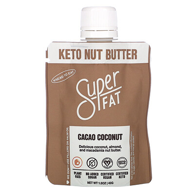 SuperFat Keto Nut Butter, Cacao Coconut, 1.5 oz (42 g)