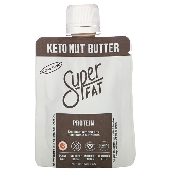 SuperFat, Keto Nut Butter, Protein, 1.5 oz (42 g)