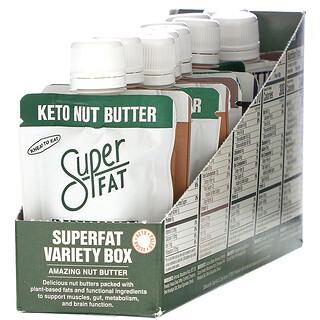 SuperFat, Variety Box, Amazing Nut Butter, 10 Pouches, 1.5 oz (42 g) Each