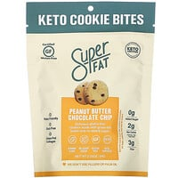 SuperFat, Keto Cookie Bites, Peanut Butter Chocolate Chip, 2.25 oz (64 g)