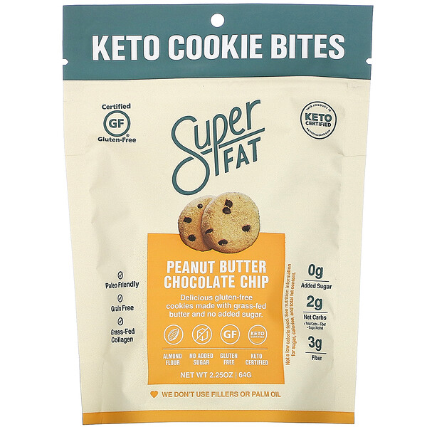 Keto Cookie Bites, Peanut Butter Chocolate Chip, 2.25 oz (64 g)