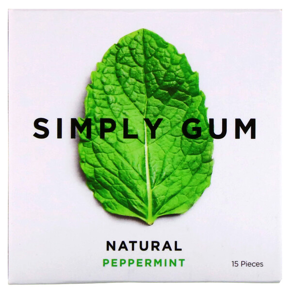 Gum, Natural Peppermint, 15 Pieces