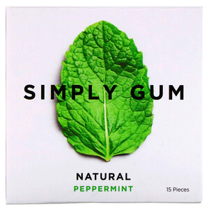 Simply Gum, Gum, Natural Peppermint, 15 Pieces отзывы покупателей