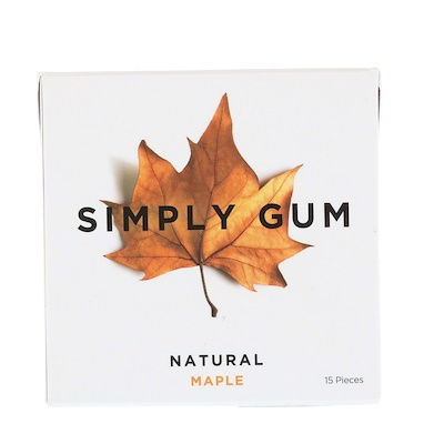 Simply Gum 口香糖,天然楓樹味,15 片