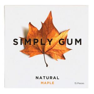 Simply Gum, Gum, Natural Maple, 15 Pieces отзывы покупателей