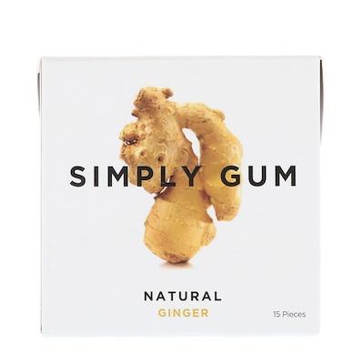Simply Gum 口香糖,天然生薑,15 片