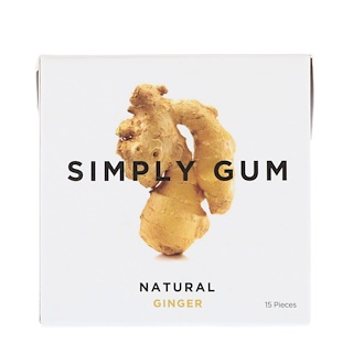 Simply Gum, Gum, Natural Ginger, 15 Pieces