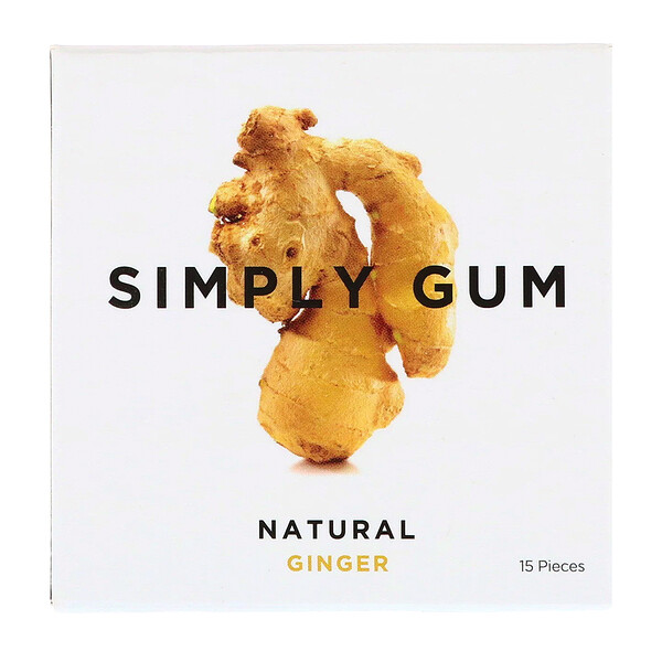 Gum, Natural Ginger, 15 Pieces