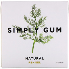 Simply Gum, 검, 천연 회향 감초, 15 조각