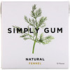 Simply Gum, Gum, Natural Fennel Licorice, 15 Pieces