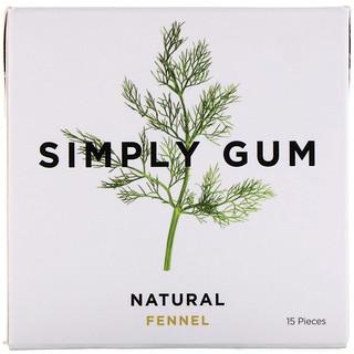 Simply Gum, Gum, Natural Fennel, 15 Pieces