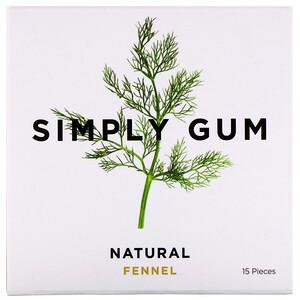 Simply Gum, Gum, Natural Fennel, 15 Pieces отзывы покупателей