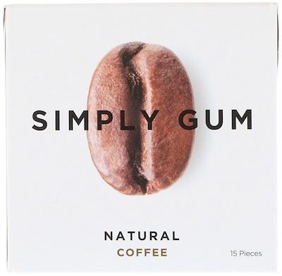 Simply Gum 口香糖,天然咖啡味,15 片