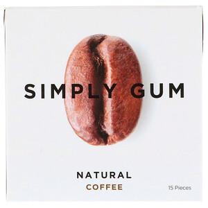 Simply Gum, Gum, Natural Coffee, 15 Pieces отзывы покупателей