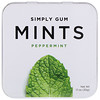Simply Gum, Mints, Peppermint, 1.1 oz (30 g)