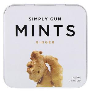 Simply Gum, Mints, Ginger, 1.1 oz (30 g) отзывы покупателей