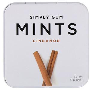 Simply Gum, Mints, Cinnamon, 1.1 oz (30 g)