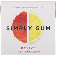 Simply Gum, Revive Gum, 15 Pieces