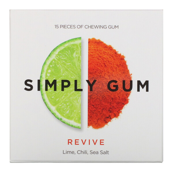 Simply Gum, Revive, Lime, Chill, Sea Salt, 15 Pieces (Discontinued Item)