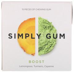 Simply Gum, Boost Gum, 15 Pieces