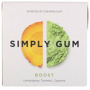 Simply Gum, Simply Gum, Boost, 15 Pieces