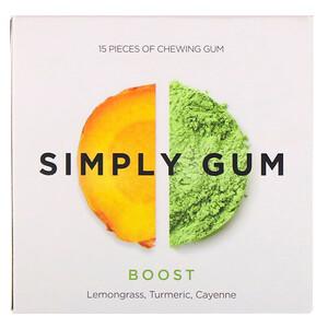 Simply Gum, Simply Gum, Boost, 15 Pieces отзывы покупателей