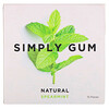 Simply Gum, Spearmint Natural Gum, 15 Pieces