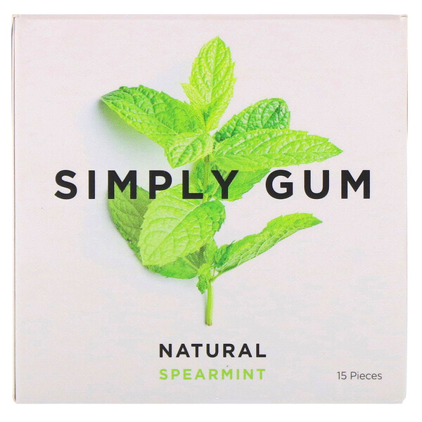 Spearmint Natural Gum, 15 Pieces