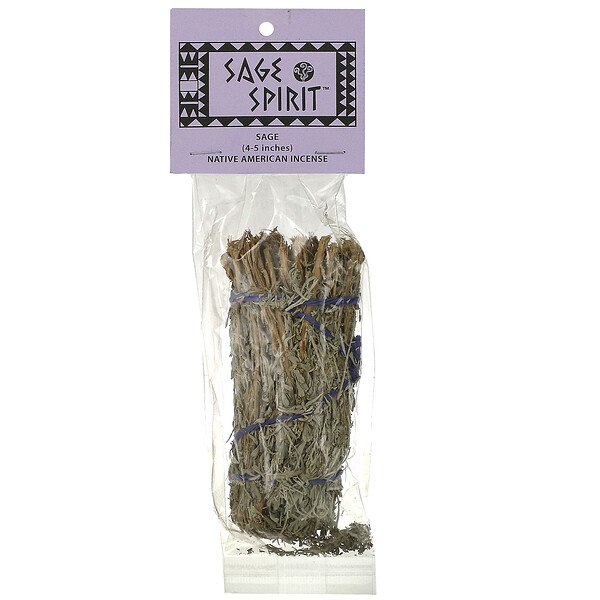 Native American Incense, Sage, Small (4-5 Inches), 1 Smudge Wand
