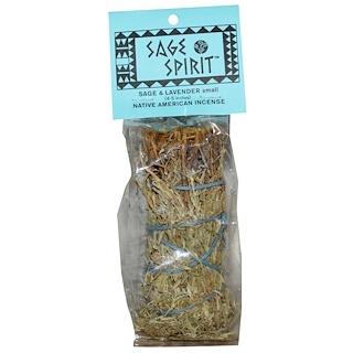 Sage Spirit, Благовония коренных Американце, шалфей и лаванда, Маленькие палочки 4-5 дюймов