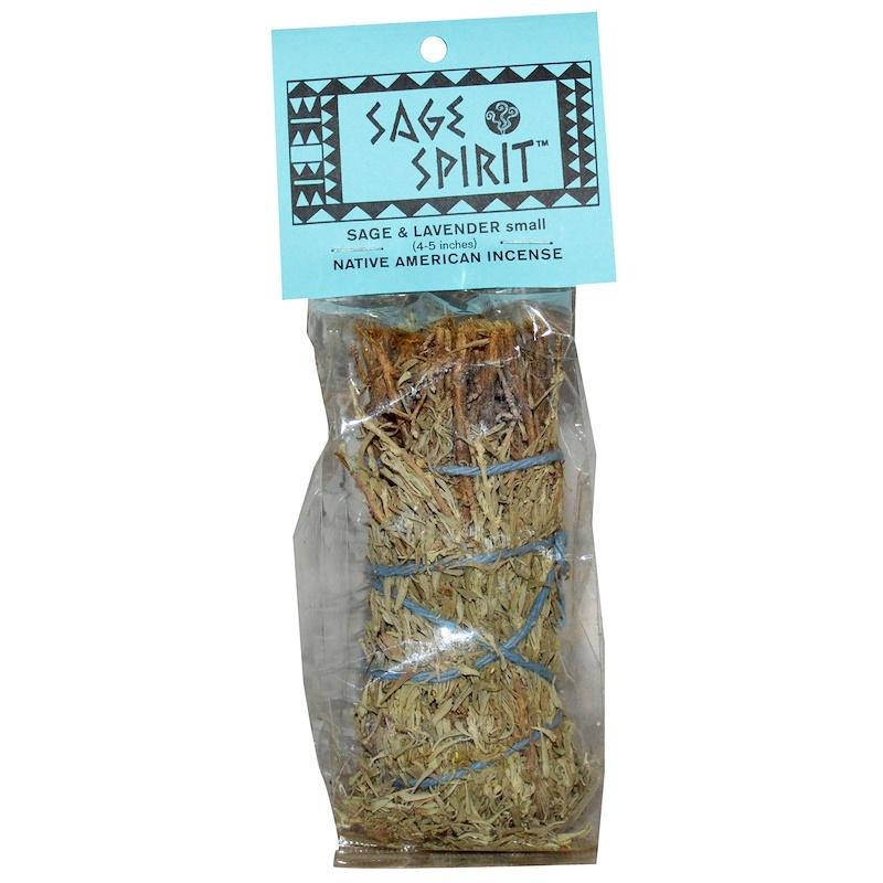 Native America Incense, Sage & Lavender, Small (4-5 inches), 1 Smudge Wand