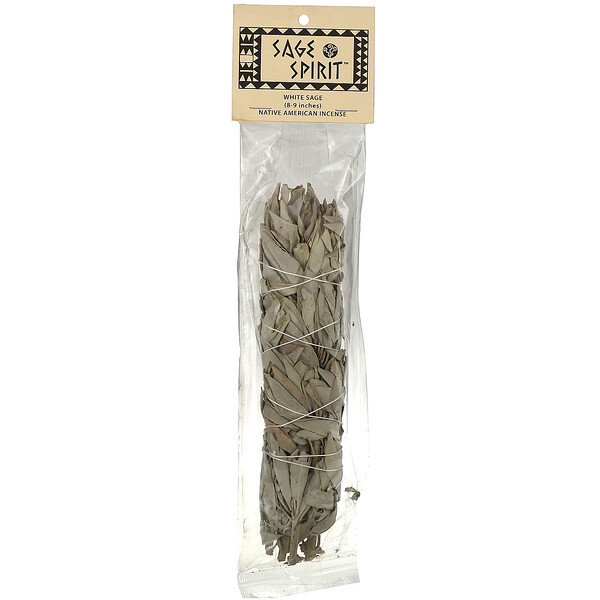 Native American Incense, White Sage, Large (8-9 inches), 1 Smudge Wand
