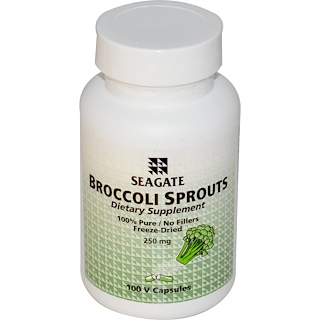 Seagate, Broccoli Sprouts, 250 mg, 100 Veggie Caps