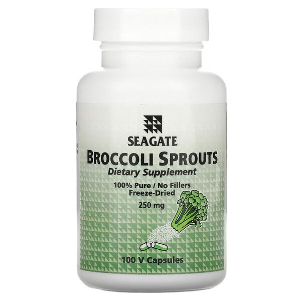 Bourgeon de brocolis, 250 mg, 100 capsules végétales