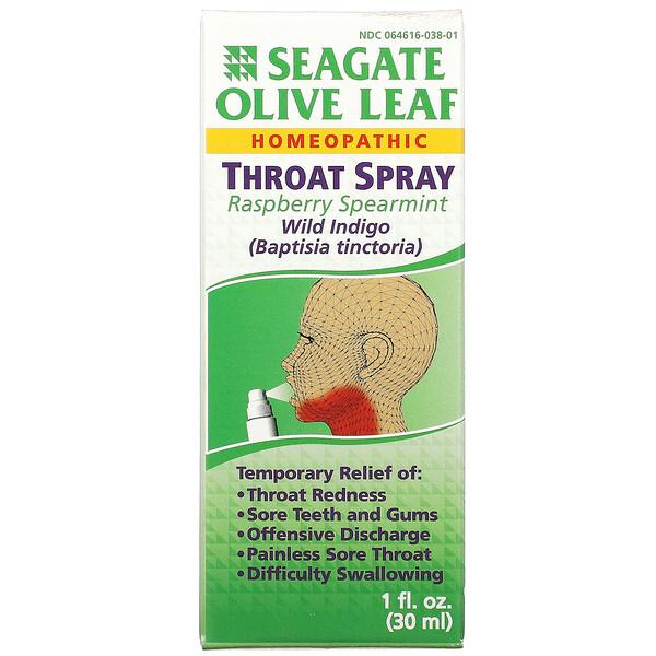 Spray para a Garganta de Folhas de Oliveira, Framboesa e Hortelã-Verde, 30 ml (1 fl oz)