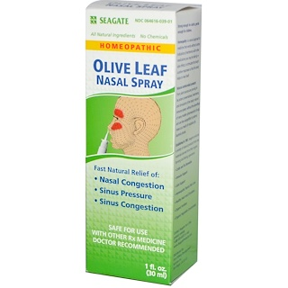 Seagate, Olive Leaf Nasal Spray, 1 fl oz (30 ml)