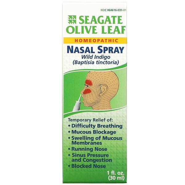 Olive Leaf Nasal Spray, 1 fl oz (30 ml)