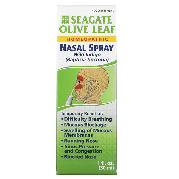 橄欖葉通鼻噴霧,1 液量盎司(30 毫升)