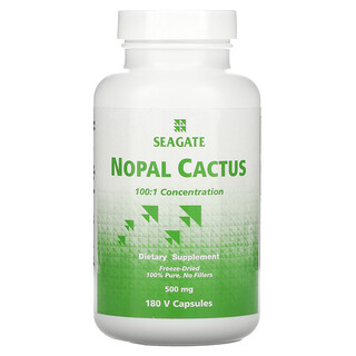 Seagate, Nopal Cactus, 500 mg, 180 V Capsules