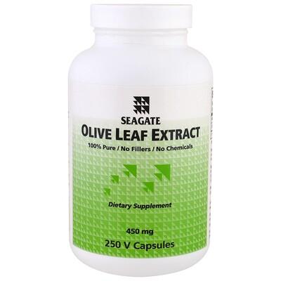 Купить Экстракт листьев оливы, 450 мг, 250 растительных капсул