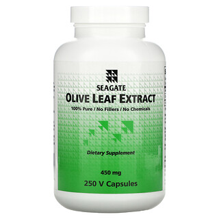 Seagate, Olive Leaf Extract, 450 mg, 250 V Capsules