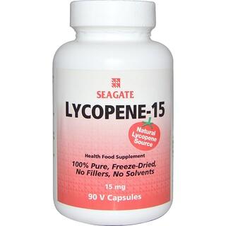 Seagate, Licopeno-15, 15 mg, 90 Vcaps