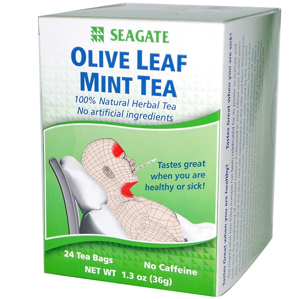 Olive Leaf Mint Tea, 24 Tea Bags, 1.3 oz (36 g)