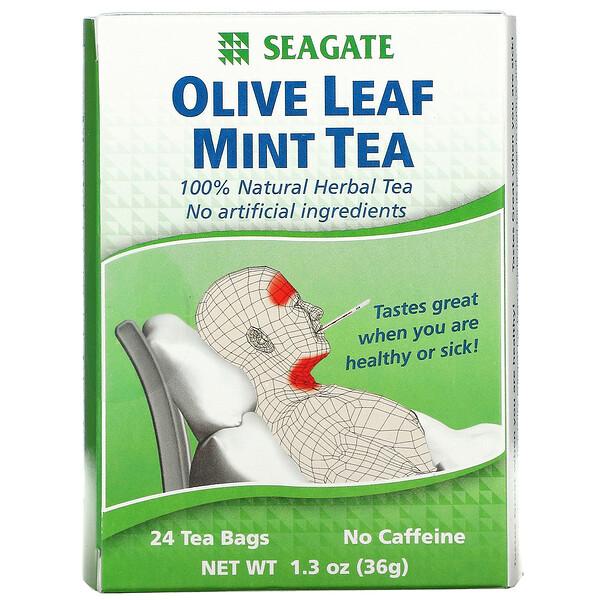 Olive Leaf Mint Tea, 24 Tea Bags, 1.3 oz (36 g)