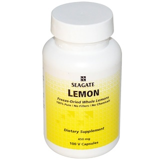 Seagate, Lemon, 450 mg, 100 Vcaps