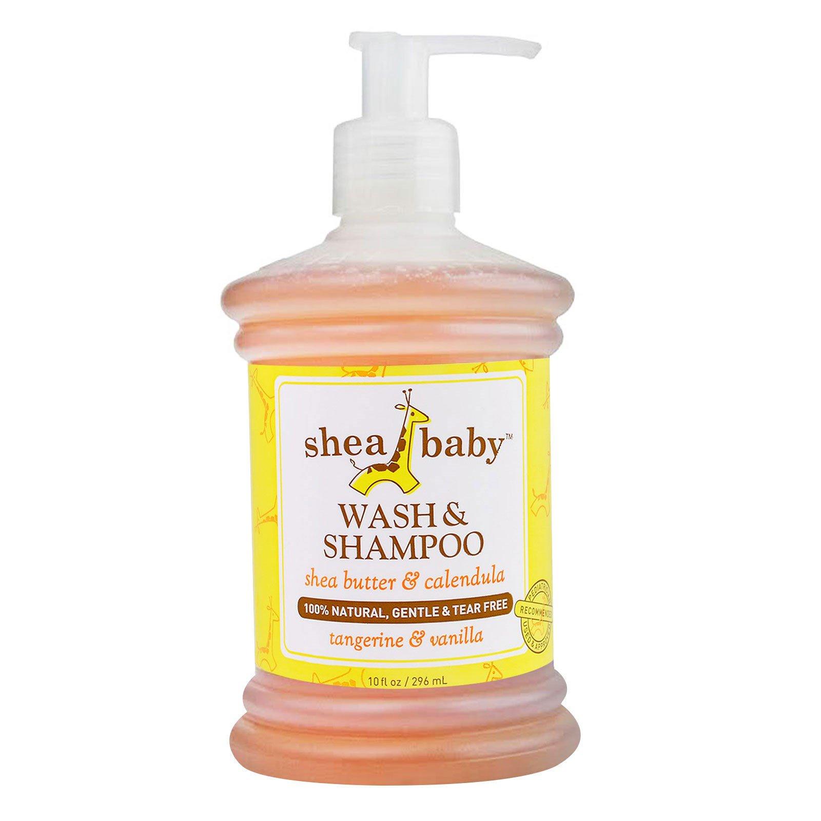 Shea Baby Shea Mama, Средство для купания и шампунь, мандарин & ваниль, 10 унций (296 мл)
