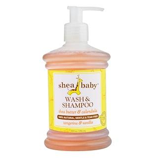 Shea Baby Shea Mama, ウォッシュ & シャンプー、 タンジェリン& バニラ、 10 fl oz (296 ml)