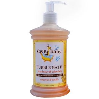 Shea Baby Shea Mama, バブルバス、 タンジェリン& バニラ、 12 fl oz (355 ml)