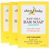 Shea Baby Shea Mama, Barra de jabón de karité sin procesar, sin perfume, paquete de 3, 4 oz (120 g) c/u